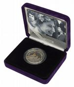 2006 Silver Proof Piedfort £5 Coin 80th Birthday